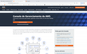 Amazon AWS - Tela de Login - Criação de Cadastro